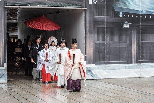Japan, Tokyo, Royal Monastery, Wedding