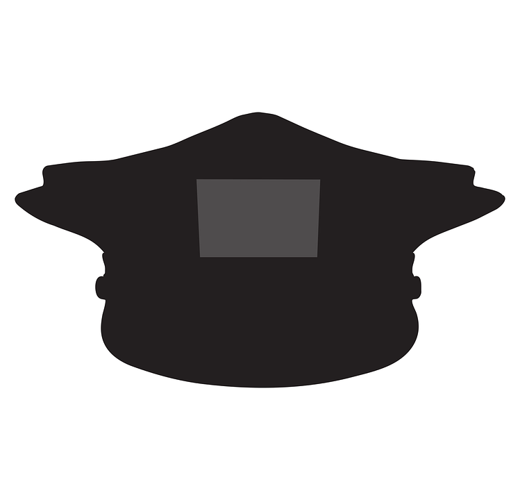 police hat silhouette free vector graphic on pixabay
