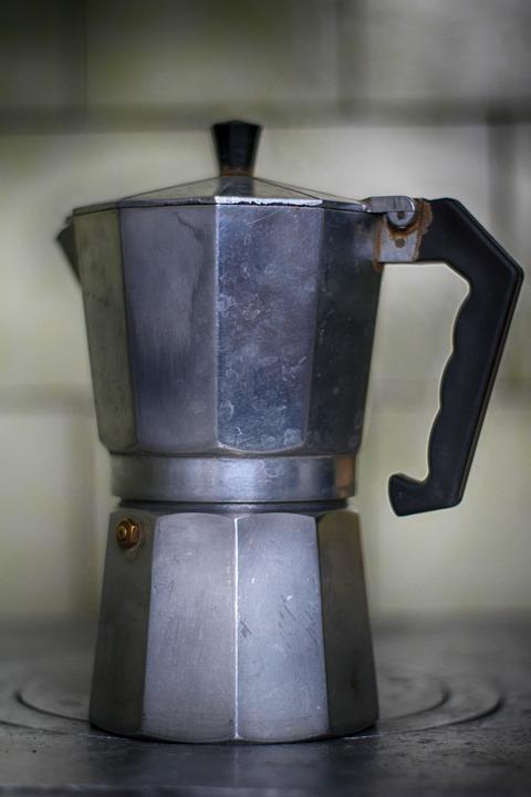 A Coffee Maker Cuban Metal