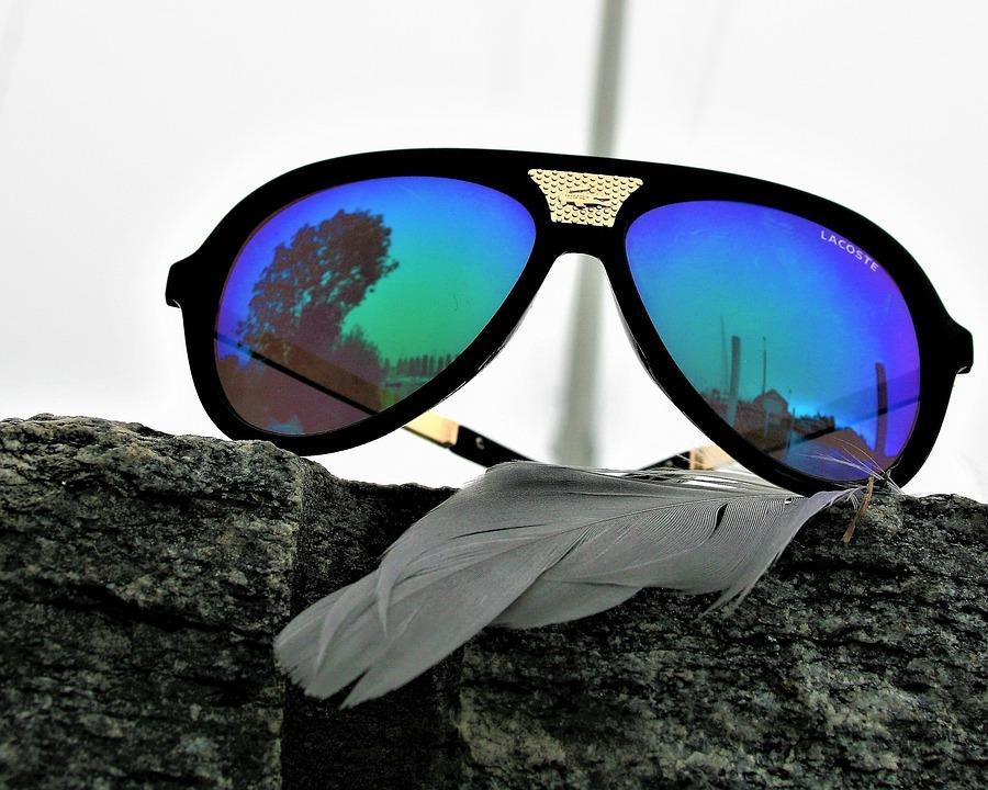 1f524b148c Gafas, Lacoste, Marca De Fábrica, Colores Del Arco Iris