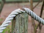 rope, demarcation, pile
