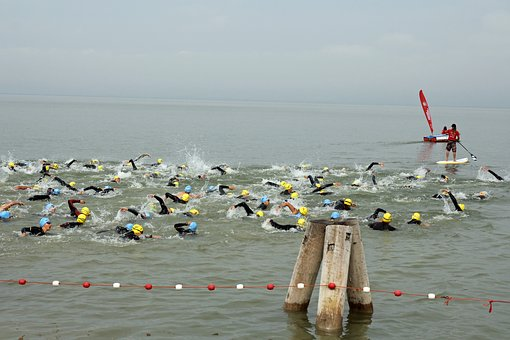Triathlon, Sport, Swim, Water, Swimmer