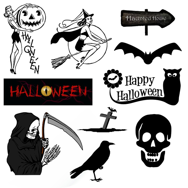 Free illustration: Halloween, Icons, Symbols, Vintage - Free Image ...