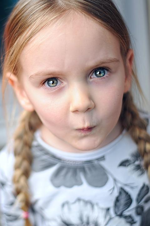 Mädchen, Kind, Niedlich, Caucasian, Porträt, Kinder