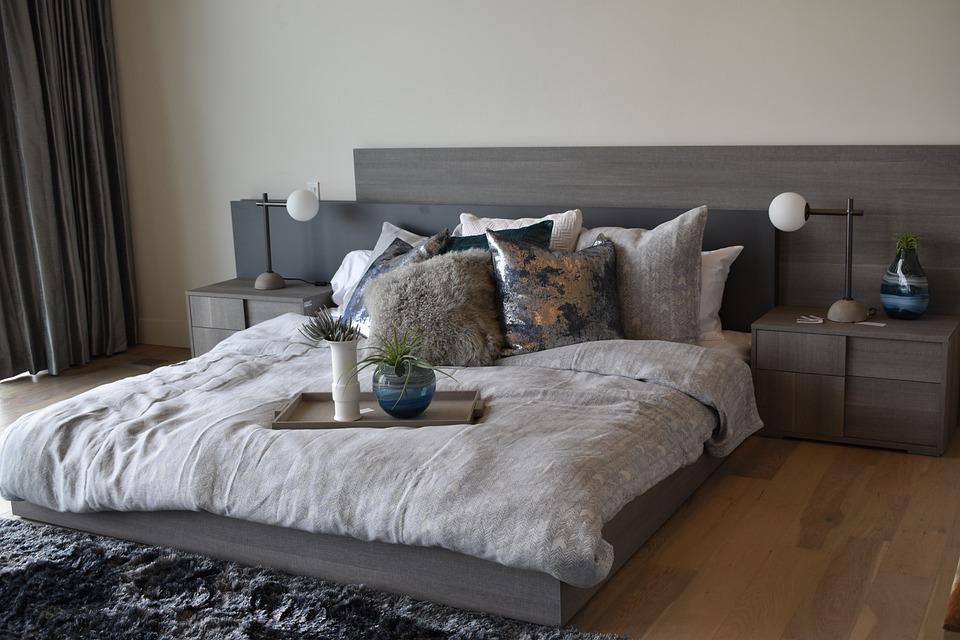 Bett Innenarchitektur Schlafzimmer · Kostenloses Foto auf Pixabay