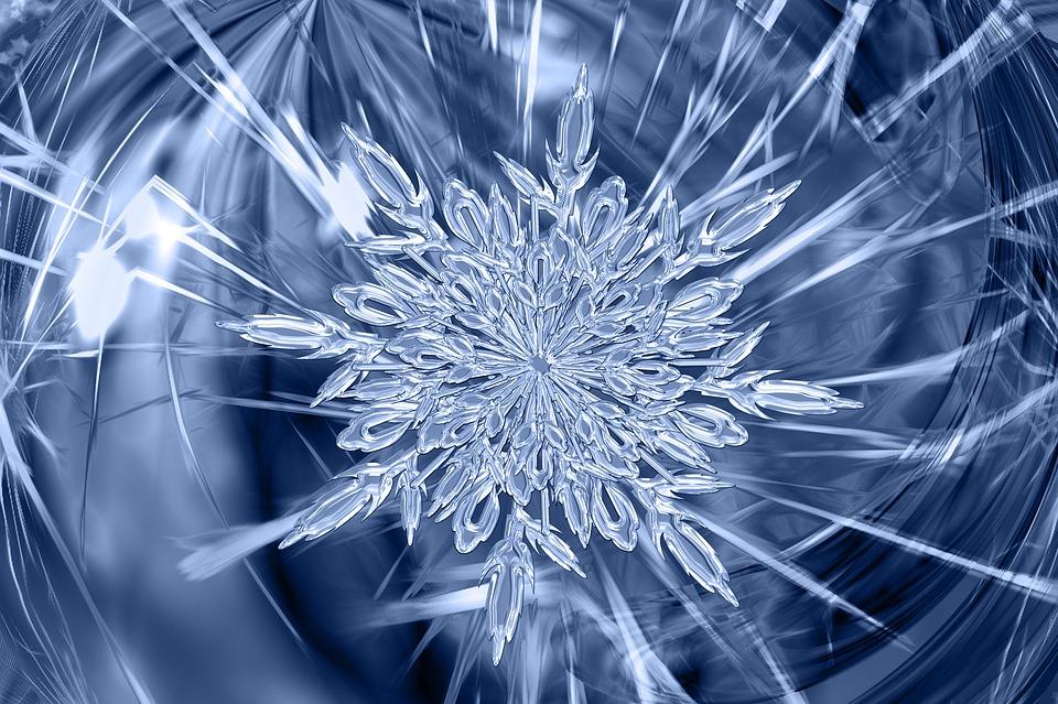 Cristallo Di Ghiaccio, Ghiaccio, Modulo, Frost, Tessuto
