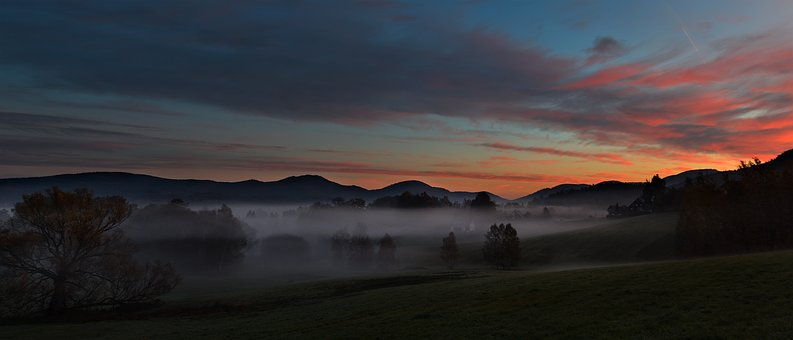 Panorama, Nature, Brouillard