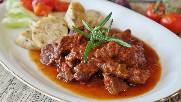 Goulash, Meat, Beef, Dumpling