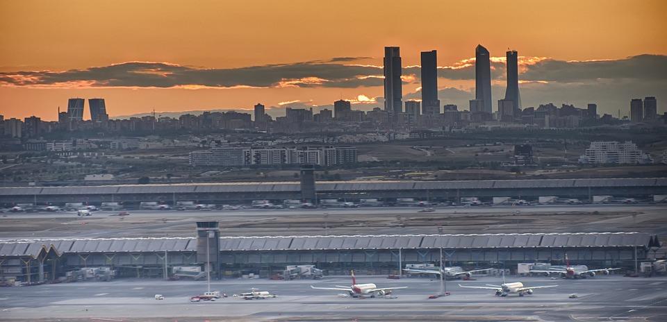 Fondo De Pantalla, Madrid, Aeropuerto, Skyline, Cielo