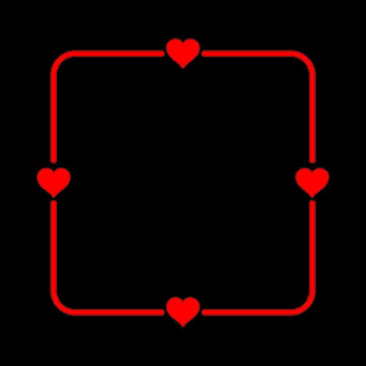 Frame Herz Rot · Kostenlose Vektorgrafik auf Pixabay