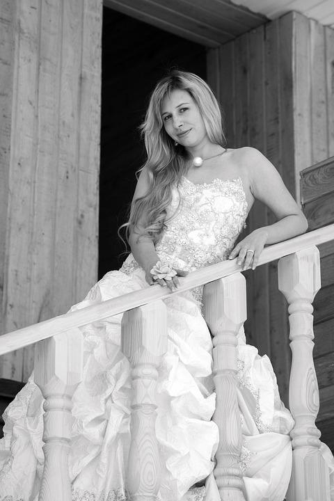 Witte Jurk Op Een Bruiloft.Bruiloft Bruid Bruidsmeisje Jurk Gratis Foto Op Pixabay