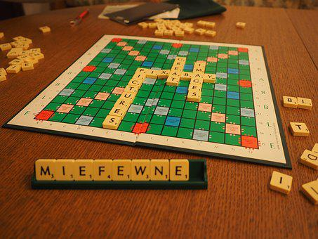 Scrabble, Play, Board Game, Letters Game