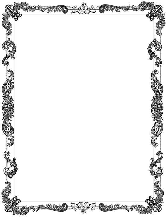 Ornate Frame Black 183 Free Image On Pixabay