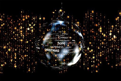 Weihnachten, Sterne, Kugel