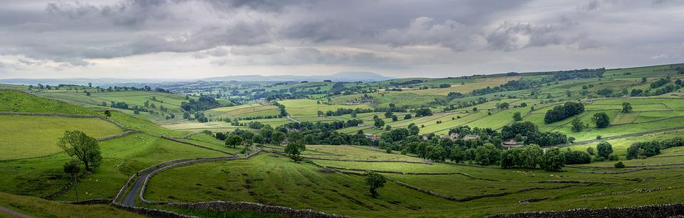 Malham, Yorkshire, Panorama, Dales Del Yorkshire