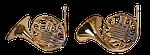 trumpet, horn, wind instrument