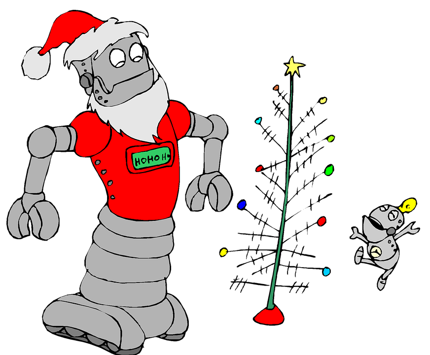 christmas robot cute  u00b7 free image on pixabay