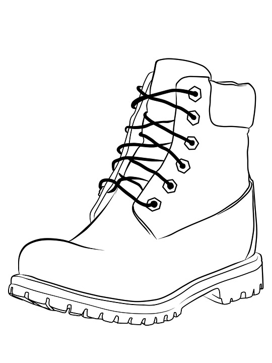 Coloring Shoes Shoe Black And - Free image on Pixabay