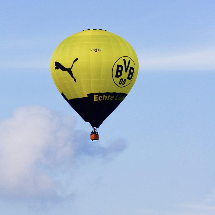 Heißluftballon In Dortmund: Heißluftballon Bvb Borussia · Kostenloses Foto Auf Pixabay