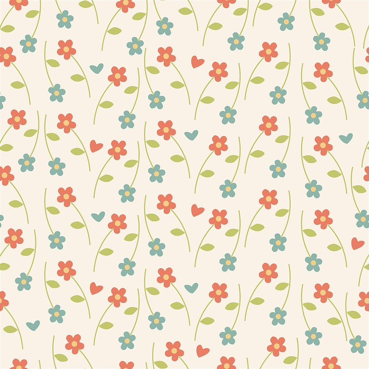 Free illustration: Floral, Pattern, Wallpaper, Retro ...