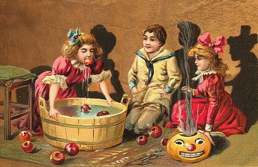 Halloween, Vintage, Kids, Card, Happy