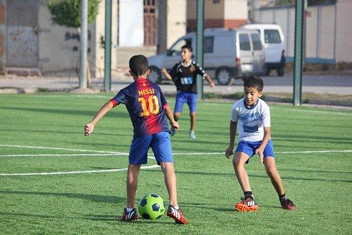 Football, Kids, Two Kids, Child, Soccer