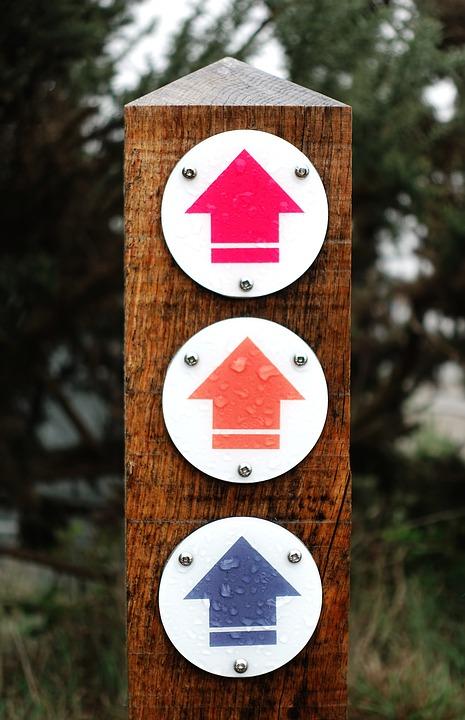 な道しるべ。, 矢印, 方法, マーク, マーカー, 記号, 方向, 交流, 3, トリプル, ナビゲーション