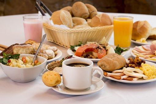Cafe, Manhã, Comida, Pães, Pão, Queijo
