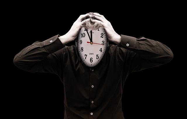 ストレス, バーンアウト, 実業家, 男, 人, 日付, 苦しませる, クロック, 時間, 個人, シルエット
