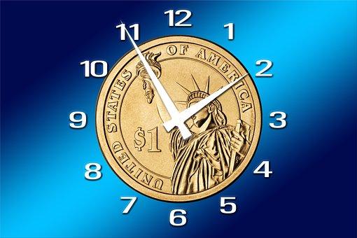 クロック, 時間, 時は金なり, 外国為替, Dollar, 金融, 金融危機
