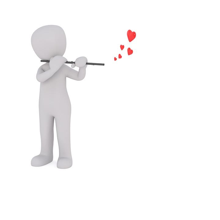 Flute, Love, Heart, Love Song, Instrument