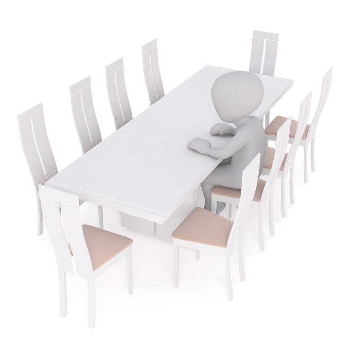 Kostenlose Illustration: Tisch, Esstisch, Stühle, Küche ...