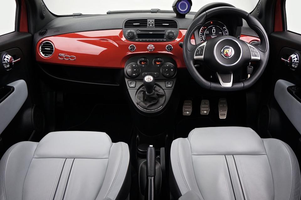 Fiat, 500, Кола, Италия, Транспорт, Мини, Коли, Червено