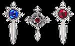 pendant, silver, ornament