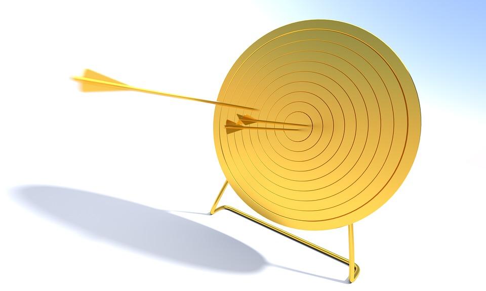 矢印, ターゲット, ブルズアイ, 目標, 目的, 円, センター, 勝利, ビジネス, ダーツボード, 精度