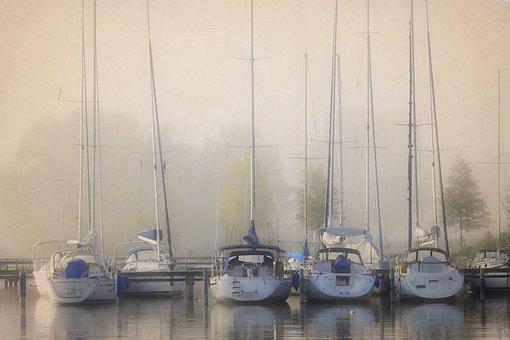 Fog, Landscape, Nature, Sun, Mysterious