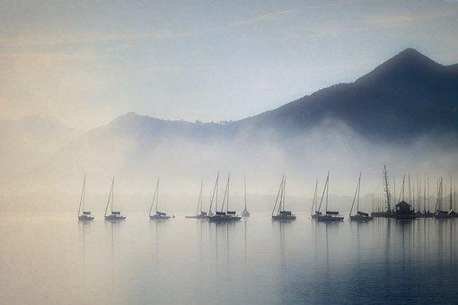Sagenhafter Chiemsee - im Nebel