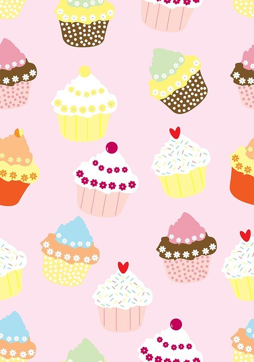Cupcakes, Wallpaper, Paper, Background, Seamless