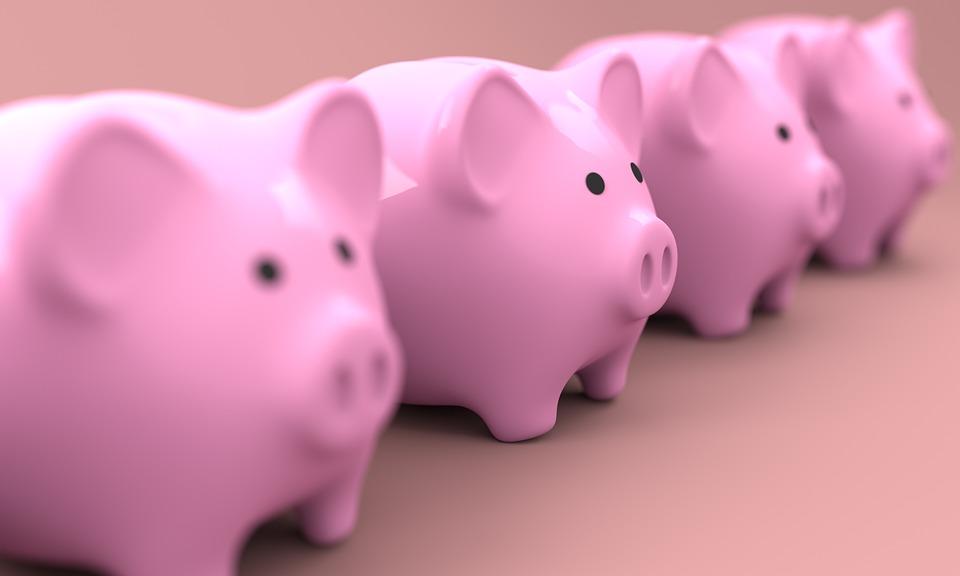Prasátko, Banka, Peníze, Financí, Podnikání