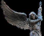 angel, wing, spear