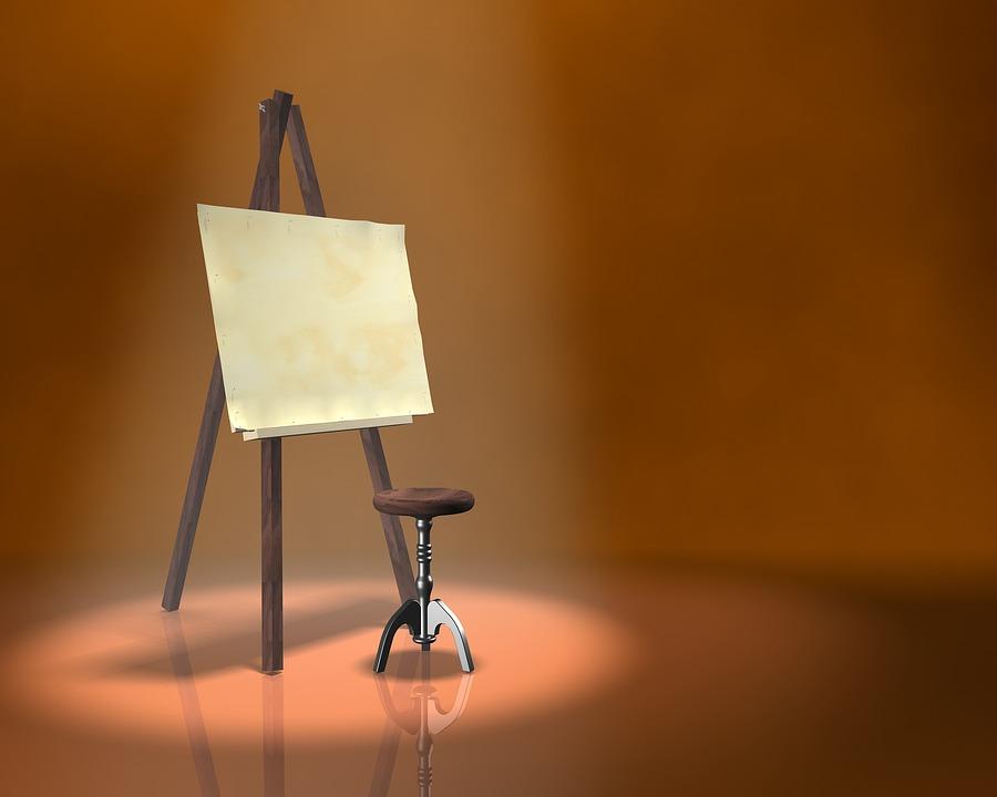 Peinture Chevalet Artiste    Photo