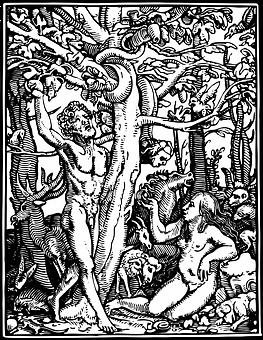Adam en Eva Cartoon Porn