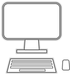 computer, monitor, keyboard