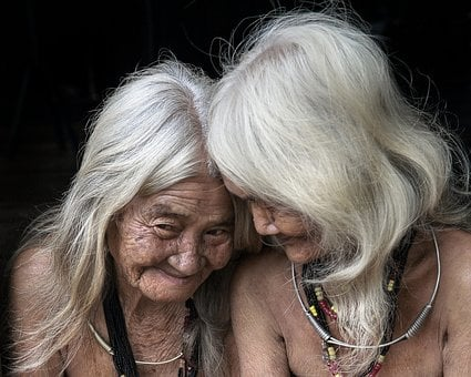 Old, People, Woman, White Hair