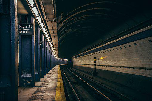 Subway, Underground, City, Manhattan