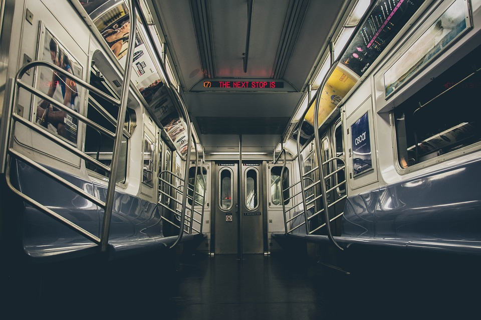 Subway, Metro, Train, Interior, Empty, Nyc