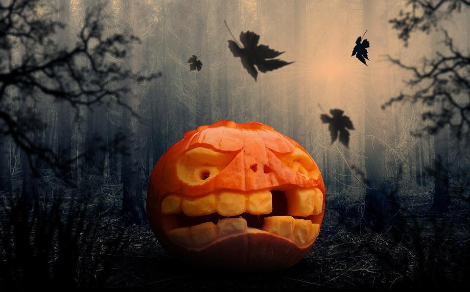 Хэллоуин, Тыква, Тыквы Осень, Осенью, Оранжевый, Лица