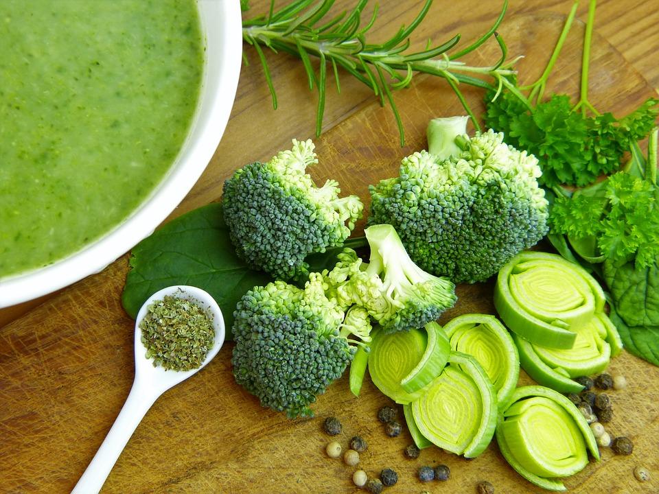 Brodo, Verdure, Broccoli, Porro, Pepe, Grani, Cibo