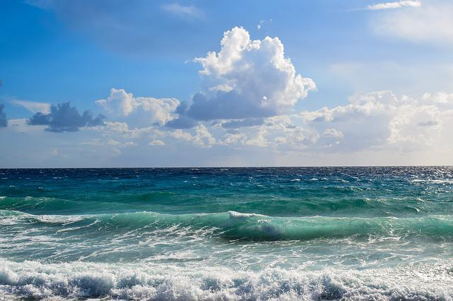 Beach Sand Clouds Sea Caribbean Water Peaceful: Seascape Sea Waves · Free Photo On Pixabay