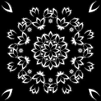 Pattern, Design, Flower, Round